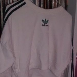 Adidas Cropped crew neck sweater
